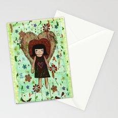 Broken girl Stationery Cards