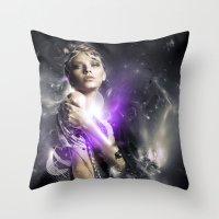 Milky Throw Pillow