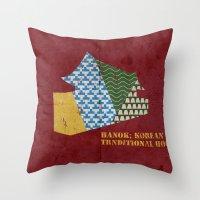 HANOK(한옥) Throw Pillow