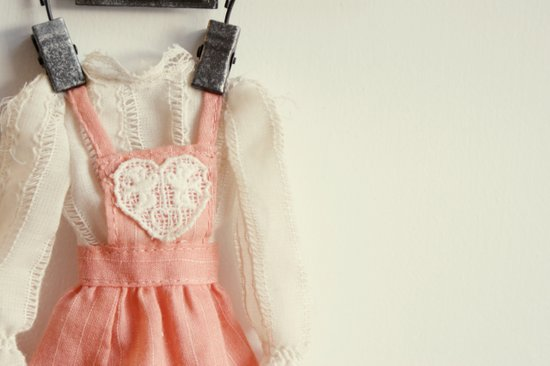 Doll Closet Series - Heart Dress Art Print