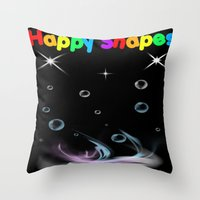 Happy Shapes Throw Pillow