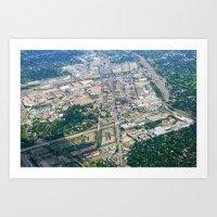 Aerial City Landscape Art Print
