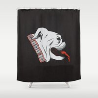 Jellyroll #10: Bull Dog … Shower Curtain