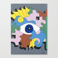 Patterned Eyes | The Left Eye 1/2 Canvas Print