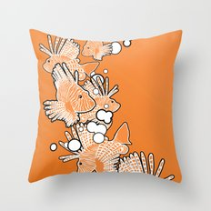 Scorpio fish Throw Pillow