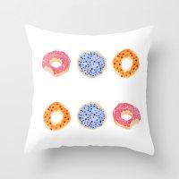 Doughnut Selection Throw Pillow