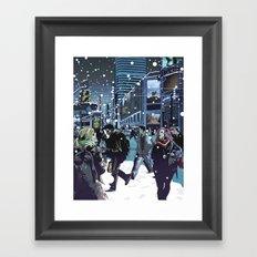 Phantoms in the Courtyard Framed Art Print