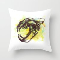 Skull 3 Throw Pillow
