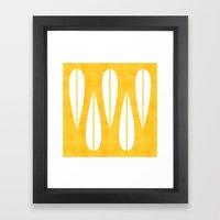 Make Mine MCM Orange Framed Art Print