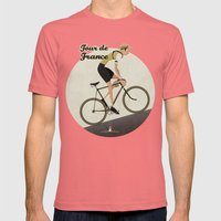Tour De France Mens Fitted Tee Pomegranate SMALL