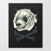Hardcore Panda! Canvas Print