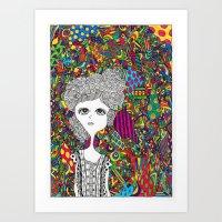 Colorful Girl Art Print