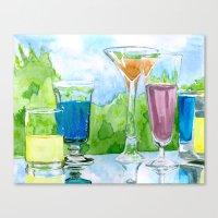 Light Reflection Color Canvas Print