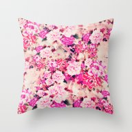 Throw Pillow featuring Elegant Pink Chic Floral… by Girly Road