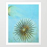 Transparent-Sea Art Print