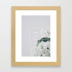 Peace, Be Still Framed Art Print