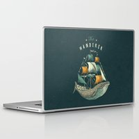 whale Laptop & iPad Skins featuring Whale | Petrol Grey by Seaside Spirit