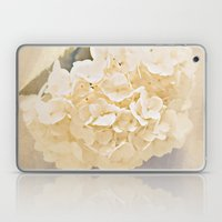 White Hydrangea Laptop & iPad Skin