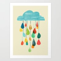 Cloudy With A Chance Of … Art Print