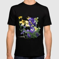 wildflowers / nature, flora, still life,  Mens Fitted Tee SMALL Black