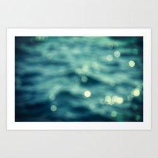 Bokeh Water Art Print