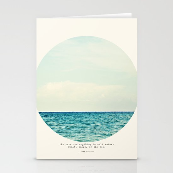 Salt Water Cure Stationery Card