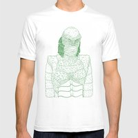 Creature From The Black … Mens Fitted Tee White SMALL