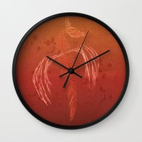 Dragon In Red Wall Clock