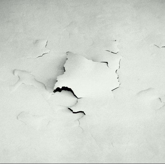 white crash Art Print