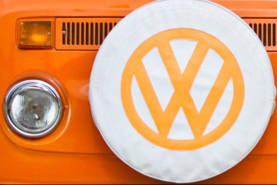 Volkswagen Orange Art Print