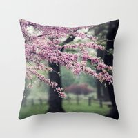 Blossoms For The Road Ah… Throw Pillow