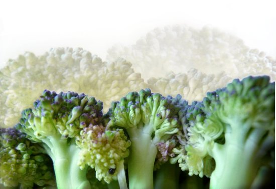 Broccoli Hills (Art of Food) Art Print