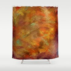 Textures - Copper and Blue Shower Curtain