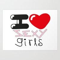 Sexy Girls Art Print