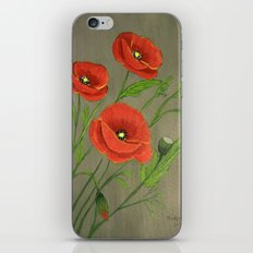 Poppies-3 iPhone & iPod Skin