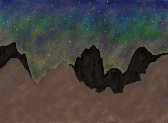 Night Mountains Art Print