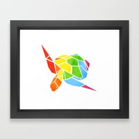 Shapeshifting Turtle Framed Art Print