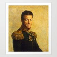 Jean Claude Van Damme - … Art Print