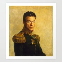 Jean Claude Van Damme - replaceface Art Print