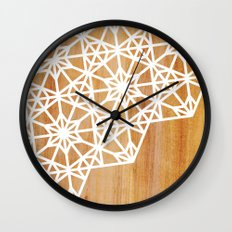 Frozen Stars Wall Clock