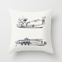 On Paper: Capote Y Pica… Throw Pillow