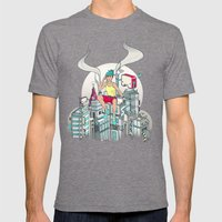 Lost & Found Mens Fitted Tee Tri-Grey SMALL