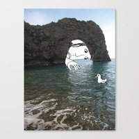 Durdle Door Man Canvas Print