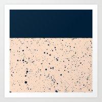 XVI - Dark Blue Art Print