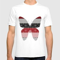Tribal I Mens Fitted Tee White SMALL
