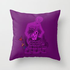 Gift - violet version Throw Pillow