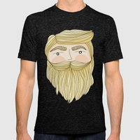 The Illusive Blonde Bear… Mens Fitted Tee Tri-Black SMALL