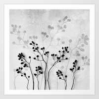 Abstract Flowers 5  Art Print