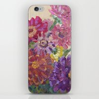 Zinnias iPhone & iPod Skin
