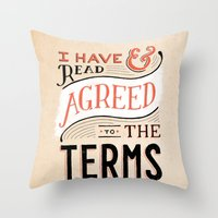 Terms and Conditions Throw Pillow
